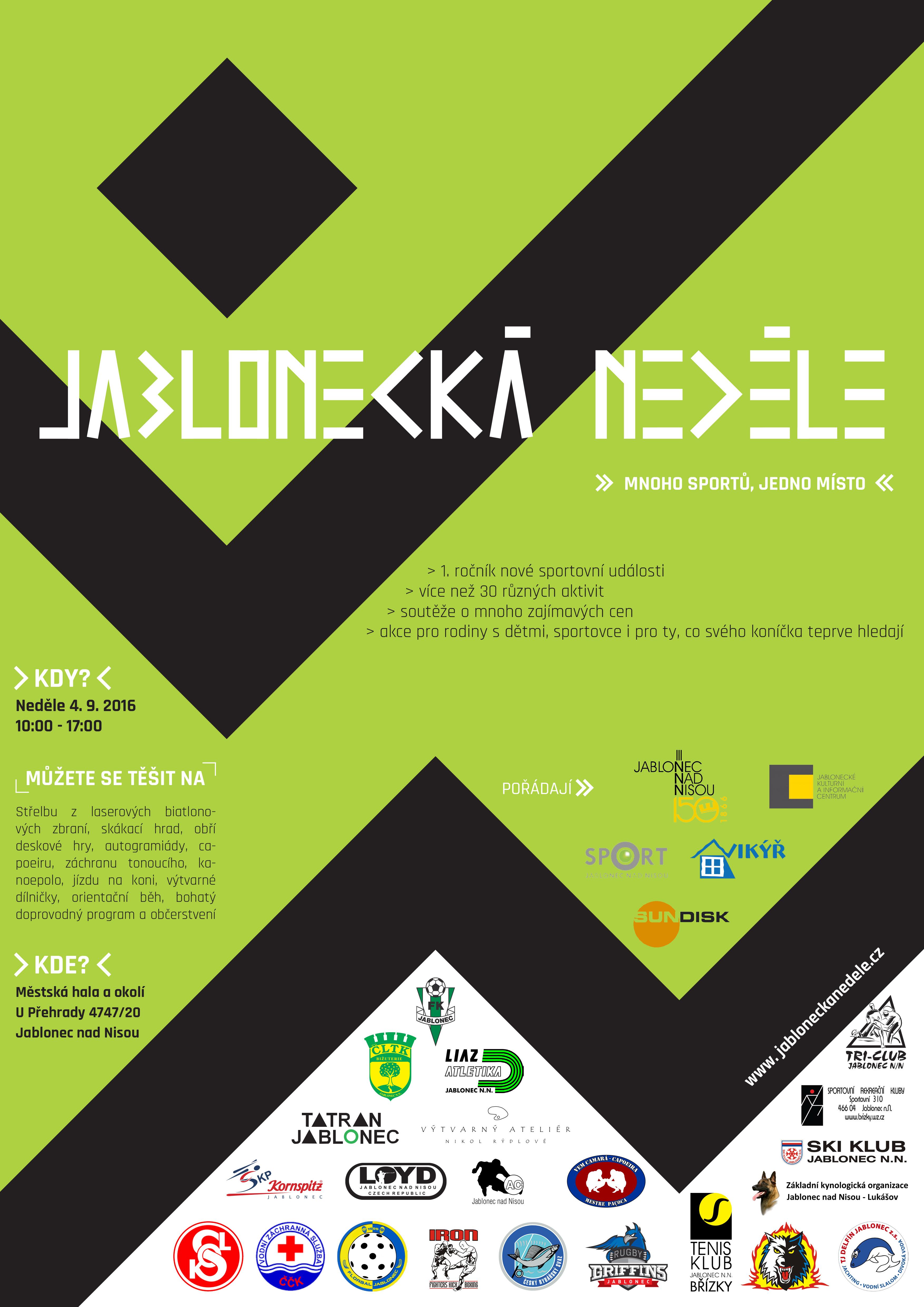 Plakát Jablonecká neděle